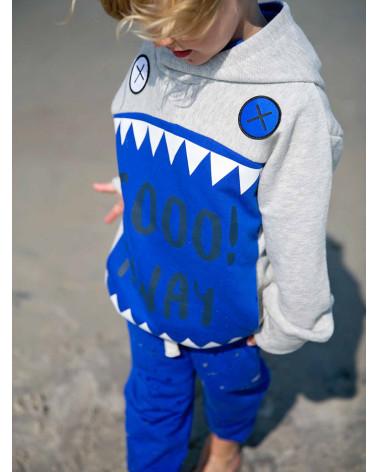 Giant Shark Hoodie Cobalt