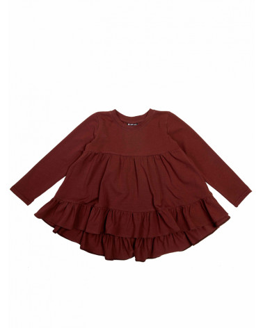 Girly Dress Burgundy